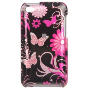Snap-on Colorized Flora Pattern Hard Plastic Case for iPod Touch 4