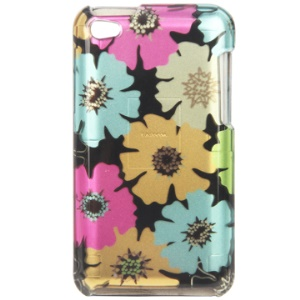 Snap-on Elegant Flower Pattern Hard Plastic Case Cover for iPod Touch 4