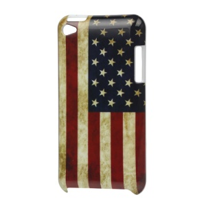 Vintage USA American Flag Hard Case for iPod Touch 4
