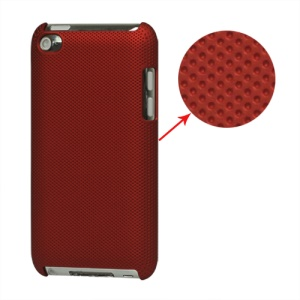 Dream Mesh Hard Plastic Case Cover for iPod Touch 4 4th 4G - Red