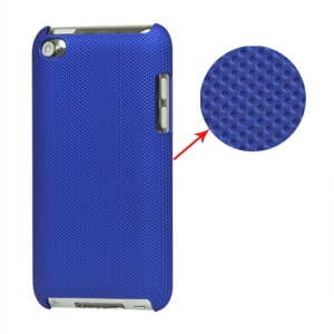 Dream Mesh Hard Plastic Case Cover for iPod Touch 4 4th 4G - Dark Blue