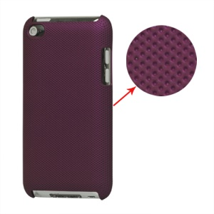 Dream Mesh Hard Plastic Case Cover for iPod Touch 4 4th 4G - Purple