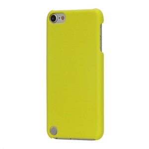 Rubberized Hard Plastic Case Cover for iPod Touch 5 - Yellow