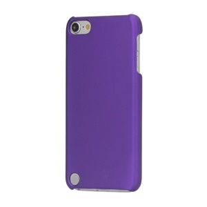Rubberized Hard Plastic Case Cover for iPod Touch 5 - Purple
