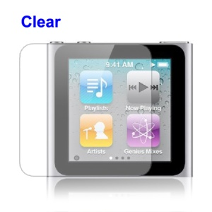 Clear LCD Screen Protector Guard Film for iPod Nano 6th