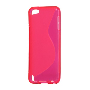 S Shape TPU Gel Case for iPod Touch 5;Red