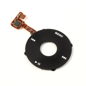 Plastic Click Wheel w/ Flex Cable Replacement for iPod Classic