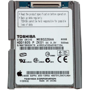 HDD Hard Drive for iPod Classic 80GB (TOSHIBA MK8022GAA)