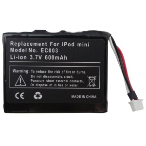 3.7V 600mAh Battery Replacement for iPod Mini