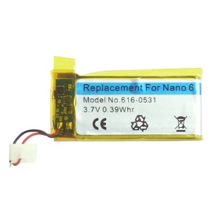 3.7V Battery Replacement for iPod Nano 6 6th
