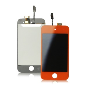 iPod Touch 4 4th Digitizer Touch Screen and LCD Assembly - Red Orange