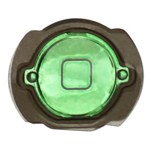 iPod Touch 4th Generation Home Button with Rubber Seal Holder Electroplating - Green