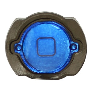 Electroplating iPod Touch 4th Generation Home Button with Rubber Seal Holder - Blue