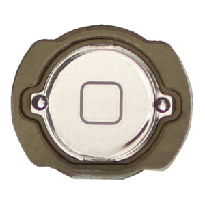 Electroplating iPod Touch 4th Generation Home Button with Rubber Seal Holder - Silver