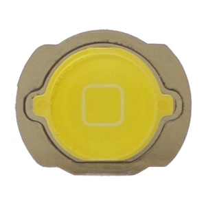 For iPod Touch 4 4th Generation Home Button Replacement with Rubber Ring Pad - Yellow