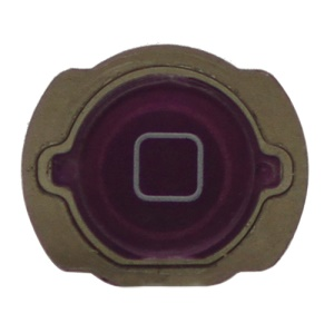 For iPod Touch 4 4th Generation Home Button Replacement with Rubber Ring Pad - Purple