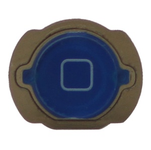 For iPod Touch 4 4th Generation Home Button Replacement with Rubber Ring Pad - Dark Blue