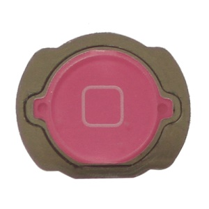 For iPod Touch 4 4th Generation Home Button Replacement with Rubber Ring Pad - Pink