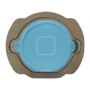 For iPod Touch 4 4th Generation Home Button Replacement with Rubber Ring Pad - Baby Blue