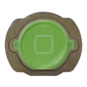 For iPod Touch 4 4th Generation Home Button Replacement with Rubber Ring Pad - Green