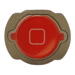 For iPod Touch 4 4th Generation Home Button Replacement with Rubber Ring Pad - Red