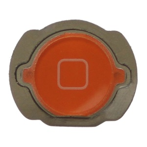For iPod Touch 4 4th Generation Home Button Replacement with Rubber Ring Pad - Orange