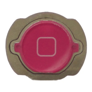 For iPod Touch 4 4th Generation Home Button Replacement with Rubber Ring Pad - Rose