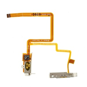 OEM Headphone Jack Hold Switch Flex Cable Replacement for iPod Video 60GB 80GB - White