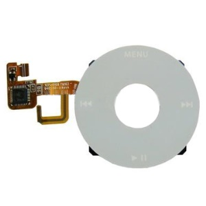 White Click Wheel Flex Cable Ribbon Replacement for Apple iPod Video