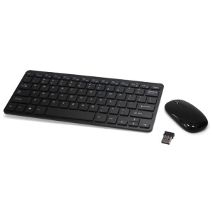 2.4GHz Wireless Desktop System Desktop Mouse and Keyboard Combo - Black