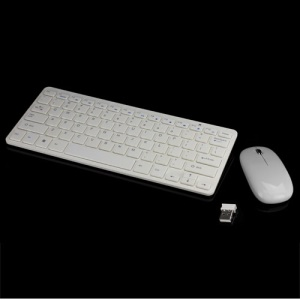 2.4GHz Wireless Desktop System Desktop Mouse and Keyboard Combo - White
