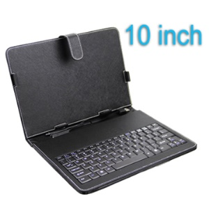 Mini Keyboard Leather Case with USB Cable for 10 inch Tablet PC