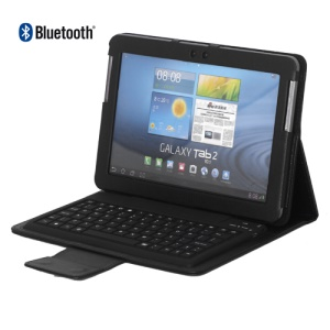 Wireless Bluetooth Keyboard Leather Case for Samsung Galaxy Tab/Tab 2 10.1 P5100 P5110 P7500 P7510