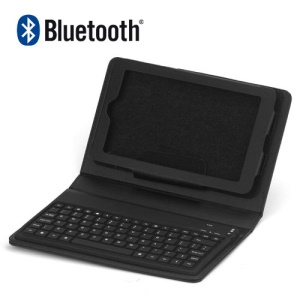 Wireless Bluetooth Keyboard Leather Cover Stand Case for the Google Nexus 7