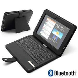 Magnetic Removable Bluetooth Keyboard Leather Case w/ Stand for Amazon Kindle Fire HD 8.9 inch - Black