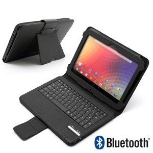 Magnetic Removable Bluetooth Keyboard Stand Leather Case for Samsung Google Nexus 10 P8110