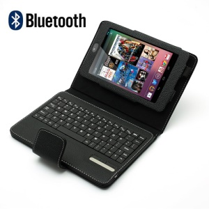 Magnetic Removable Leather Bluetooth Keyboard Case w/ Stand for Asus Google Nexus 7