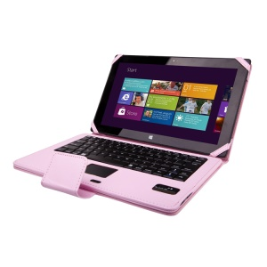 Pink for Microsoft Surface RT / Pro / Pro 2 Leather Cover Bluetooth Keyboard with Stand and TouchPad