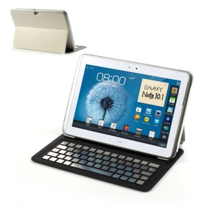 Ultra Thin Bluetooth Keyboard Leather Stand Case For Samsung Galaxy Note 10.1 N8000 N8010 N8013 - Silver