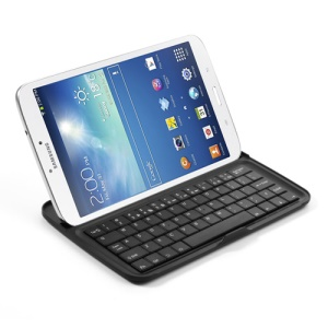 Silm Wireless Bluetooth Keyboard for Samsung Galaxy Tab 3 8.0 T3100 T3110 T3150 - Black