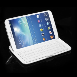 Silm Wireless Bluetooth Keyboard for Samsung Galaxy Tab 3 8.0 T3100 T3110 T3150 - White