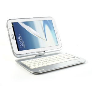 360 Degree Rotary Bluetooth Keyboard Case for Samsung Galaxy Note 8.0 N5100 N5110 - Silver
