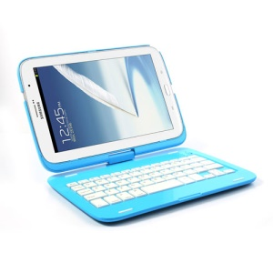 Bluetooth Keyboard Case for Samsung Galaxy Note 8.0 N5100 N5110 w/ 360 Degree Rotating - Blue