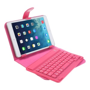 Rose 7-8 inch Tablet PC Bluetooth V3.0 Keyboard Protective Leather Case w/ Stand for iPad Mini / Mini 2 Galaxy Tab 7.0 8.0 / Note 8.0 Google Nexus 7