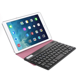 Rose 7-inch Tablet Bluetooth Keyboard Origami Stand Leather Case for Galaxy Tab 7.0 Nexus 7 etc