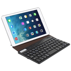 Brown Bluetooth Keyboard Origami Stand Leather Cover for Galaxy Tab 7.0 Nexus 7 etc 7-inch Tablets