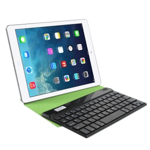 Green Universal 9-inch Bluetooth Keyboard Origami Stand Leather Cover for Samsung P7300 T320 Tablet PC