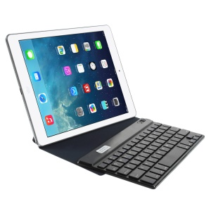 Dark Blue Bluetooth Keyboard Origami Stand Leather Case for Samsung P7300 T320 9-inch Tablet PC