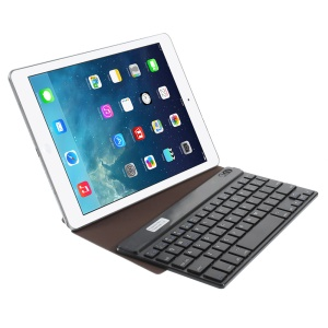 Brown Bluetooth Keyboard Origami Stand Leather Shell for Samsung P7300 T320 9-inch Tablet PC