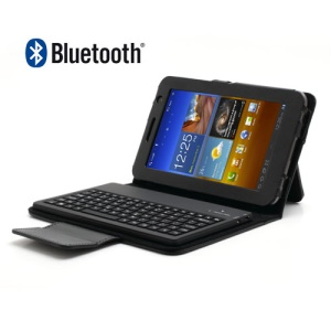 Wireless Bluetooth Keyboard Leather Case for Samsung Galaxy Tab 7.0 Plus P6200 P6210 P3100 P3110